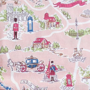 Uk Fabric English Style, United Kingdom Fabric, Union Jack, River Thames, Big Ben, Fairy Tale, Palace Castle, Soldier,curtain