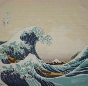 Furoshiki Hokusai's 'The Wave' Motif Japanese Fabric 48cm