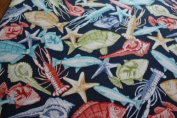 Richloom Blue Fish,crab,sea Life Outdoor Muti-colour Fish BTY