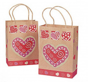 Valentine Heart Kraft Gift Bags