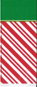 Candy Striped Christmas Treat/Gift Bags with Twist Ties - Package of 25