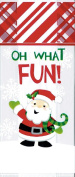 """Oh What Fun!"" Christmas Treat/Gift Bags with Twist Ties - Package of 25"