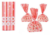XOXO Valentine Cellophane Bags