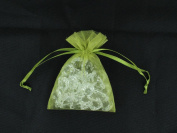 Sparkles Make It Special 100-pcs 10cm x 15cm Organza Favour Bags Wedding Party Gift Pouches Olive Green
