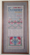 Periwinkle Promises Golden Thread Counted Cross Stitch Sampler Kit