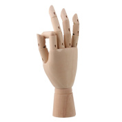 "Art Drawing 25cm "" Jointed Flexible Manikin Mannequin Wooden Right Hand Model"
