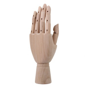 Artist Art Model Wooden Articulated Left Hand Mannequin Manikin Flexible Hand
