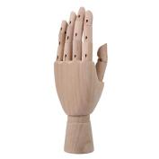 Artist Art Model Wooden Articulated Left Hand Mannequin Manikin Flexible Hand