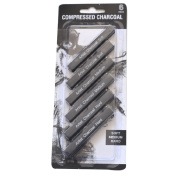 6-piece Student Artist Sketch Drawing Black Compressed Charcoal Sticks Pencils Set