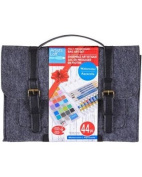 Felt Messenger Bag Art Set - Watercolours