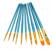 HOSL Paint Brush Set Acrylic 10pcs Professional Paint Brushes Artist for Watercolour Oil Acrylic Painting