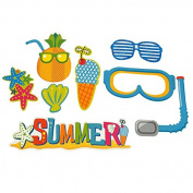 DIY Kid Photo Booth Props, 8-piece, Summer Fun