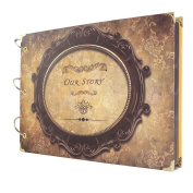 Newcreativetop Scrapbook Photo Albums Vintage Style Recording Round Our Story Valentines Day Gifts