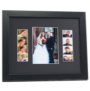 CreativePF [5x 7event11x 14bk-b] Black Event Photo Booth Frame Ð Holds 1- 13cm by 18cm and 2- 5.1cm by 15cm Photographs with Black Collage Mat w/ Stand