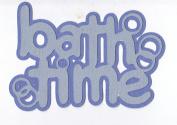 Bath Time Paper Piecing Title - Blues
