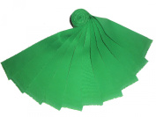 "20 6.4cm Beautiful Kelley Green ""Dream Cotton"" Solids Jelly Roll WOF"