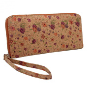 Boshiho® Cork Wallet Zipper Around Cell Phone Clutch Purse for iPhone 6 6s Plus 5 5s Samsung Vegan Gift