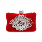 Kingluck velvet Wedding/Special Occasion Clutches/Evening Handbags With decoration drill