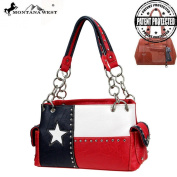 TXG-8085K Montana West Texas Pride Collection Concealed Carry Handbag Red