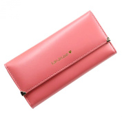 Bluelans® Synthetic Leather Women Long Trifold Wallet Purse Clutch Credit Card Holder Case