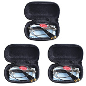 3 PRS Southern Seas Mens Womens Folding Reading & Travel +5.00 Glasses w Case 16 Strengths Available