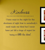 Kindness I Have Wept in the Night for the Shortness of Sight... Vinyl Wall Decals Quotes Sayings Words Art Decor Lettering Vinyl Wall Art Inspirational Uplifting