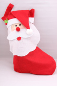 Dealzip Inc® Large Size Snata Claus With Long Beard Christmas Stockings Gift Bag