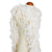 Cynthia's Feathers 65g 180cm Turkey Chandelle Feather Boas, Over 80 Colours & Patterns to Pick Up
