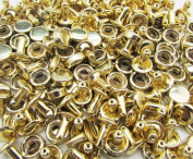 Amanteao Light Golden Double Cap Rivets High Terrace Plane Cap 6mm and Post 6mm Pack of 100 Sets