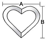 Stained Glass Supplies 10cm - 5.1cm Clear Heart Bevels BC412