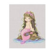 [Cute Mermaid] DIY Cross-Stitch 14CT Embroidery Kits Kids Room Decors