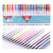 Smart Colour Art - 30 Colour Premium Gel Pen Set | Colours Included