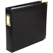 Project Life Faux Leather Album, 30cm x 30cm , Black and Gold
