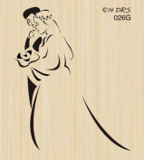 Silhouette Bride & Groom Rubber Stamp By DRS Designs