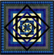 Tumbling Star/Blue and Blacks/Quilt Kit/EXPEDITED SHIPPING