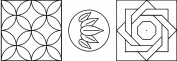 Quilting Creations Mini Sashiko Stencil, 2.5cm