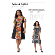 Butterick Patterns B6186WMN Misses'/Women's Dress Sewing Template, WOMAN