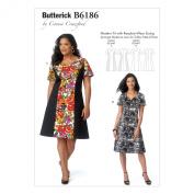 Butterick Patterns B6186WMN Misses'/Women's Dress Sewing Template, WOMAN