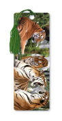 Dimension 9 3D Lenticular Bookmark with Tassel, Tigers in the Jungle
