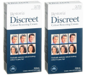 2 BOXES of Restoria Discreet Colour Restoring Cream 150ml