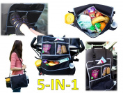 5-In-1 Insulated Stroller Bag And Backseat Organiser/Bag Keeps Drinks Cool