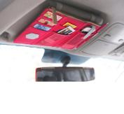 iSuperb® Canvas Multi-function Car Space Sun Visor Organiser Card Phone Storage Pouch Bag