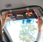 iSuperb® Car Sun Visor Organiser Canvas Multi-function Space Card Phone Storage Pouch Bag