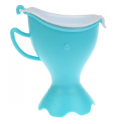 Foryee Whale Portable Toilet Potty for Boy & Girl - Emergency Pee Guider - Fit 99% Bottle - Blue