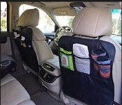 Deluxe Kick Mat Protector for Car Seats and Organiser-2 PACK By Koolacc | Protect Seat Back Upholstery From Damage | Extra Large Fits Most Vehicles | Free 100% No Hassle Guarantee