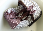 Infant Carseat Canopy Cover 3 Pc Whole Caboodle Baby Car Seat Cover Kit Cotton C040100
