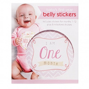 C.R. Gibson First Year Belly Stickers, Girl