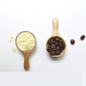 AUCH 2Pcs Handmade Nature Wood Baby Infant Kids Milk Powder Measuring Spoons Wooden Kitchen Scale Tea Leaf Spoon Soup Spoon