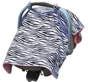 Zebra Canopy with Hot Pink Minky Lining