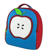 Dabbawalla Bags Apple Of My Eye Kid's Toddler Preschool and Daycare Backpack, Red/blue